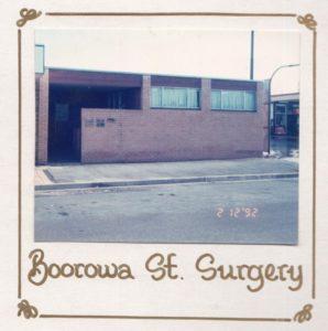 Borrowa Street medical practice 1992